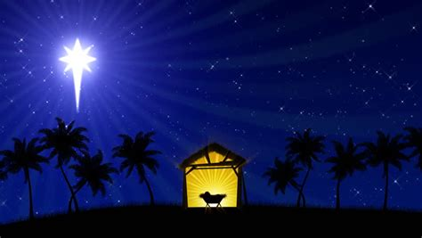Animated Nativity Wallpaper - nativity with animated palm trees and the of