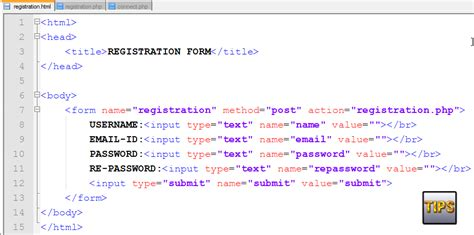 tutorial registration form in php with mysql database