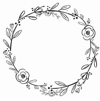 Wreath Clipart Flowers Handdrawn Flower Rustic Grapevine