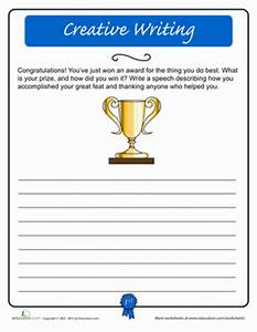 Creative Writing: Acceptance Speech   Creative writing ...
