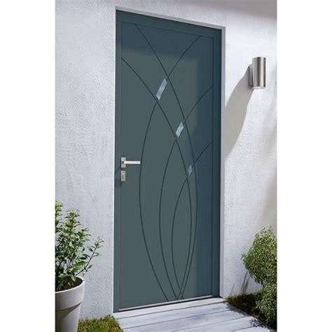 porte d entr 233 e alu zo 233 gris castorama concernant porte blind 233 e dans porte d entr 233 e castorama
