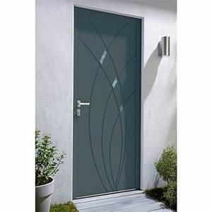 porte d39entree alu zoe gris castorama concernant porte With castorama porte d entrée