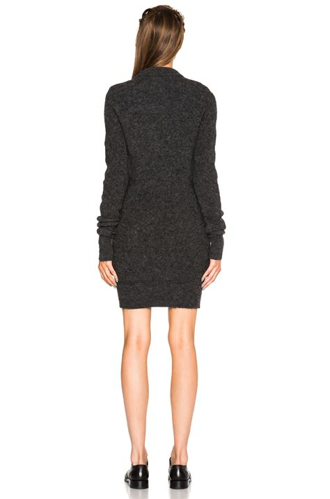 gray sweater dress acne studios visa mohair sweater dress in gray lyst