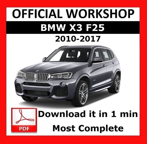 download car manuals pdf free 2010 bmw x3 on board diagnostic system gt gt official workshop manual service repair bmw series x3 f25 2010 2017 5010960641255 ebay
