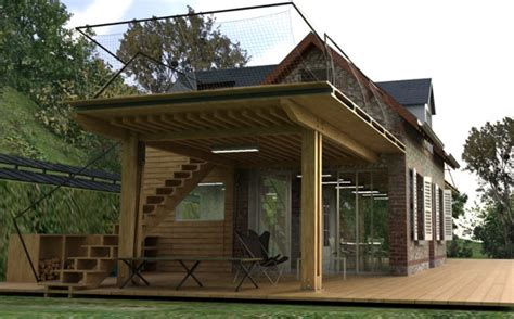 eco house design  heavenly complete  wings