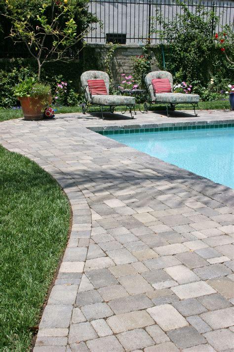 swimming pool landscape stone decking around pools modern diy art design collection