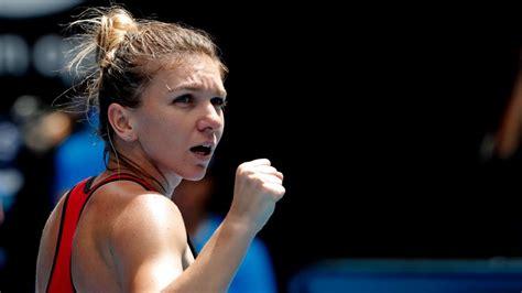 australian open finalist simona halep signs