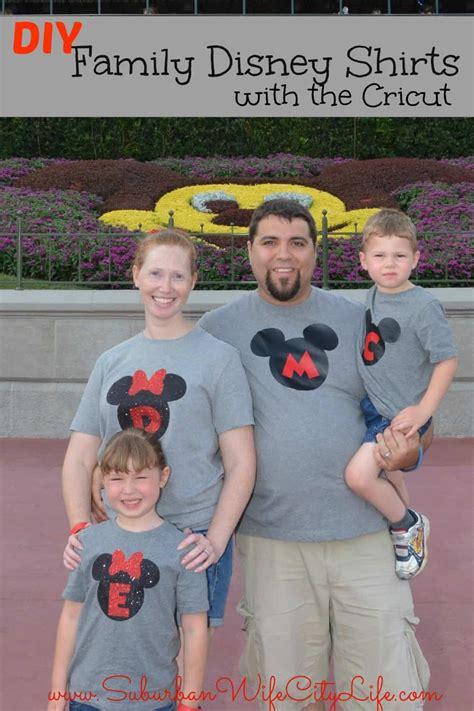 diy family disney shirts  cricut suburban wife