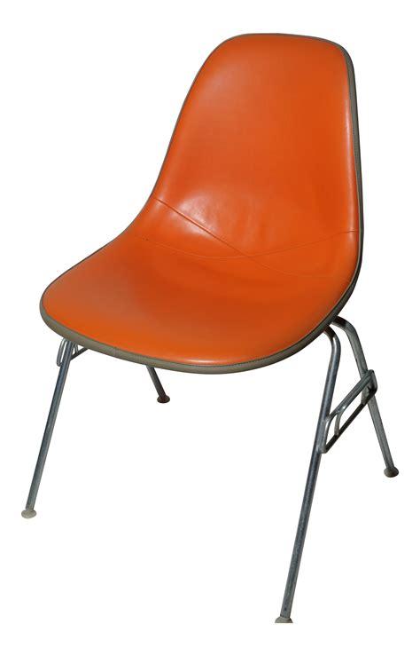 herman miller eames vintage dss orange chair chairish