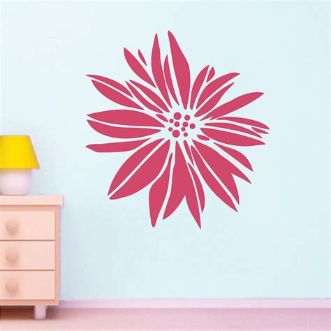 exotic flower wall decal floral wall art from trendy
