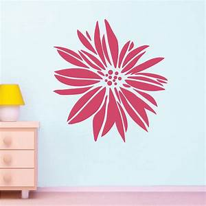 exotic flower wall decal floral wall art from trendy With flower wall decals