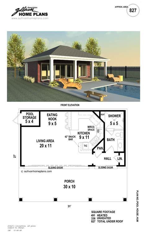 pool house plan b1 0827 p pool in 2019 pool house plans pool houses