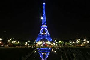 Eiffel Tower At Night Blue | www.imgkid.com - The Image ...