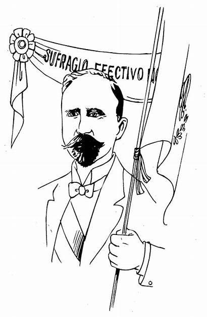 Madero Francisco Coloring Pages Sufragio Efectivo Fco