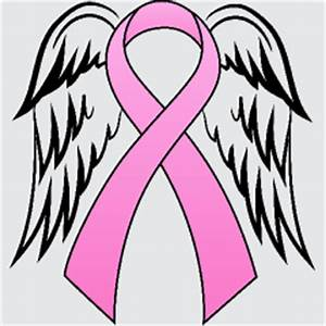 Pink Ribbon With Angel Wings For My Grandmother ...