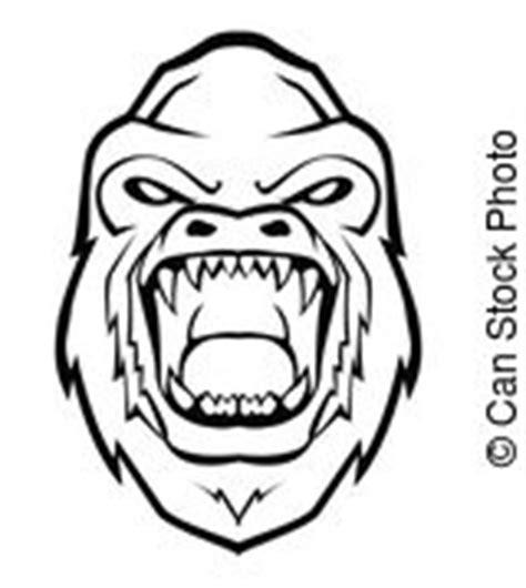 Gorila Ilustrações e Clip Arte 10 748 Gorila Ilustrações