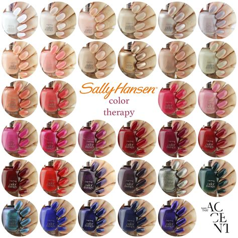 color sallys sally hansen color therapy swatches nail that accent
