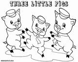 Pigs Three Coloring Pages Preschool Printable Preschoolers Drawing Story Easy Fun Pig Colouring Houses Template Draw Cartoon Sheet Sheets Clipart sketch template