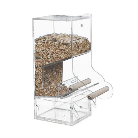 Parrot Feeder by Acrylic Anti Splash Automatic Bird Feeder Parrot Pigeon