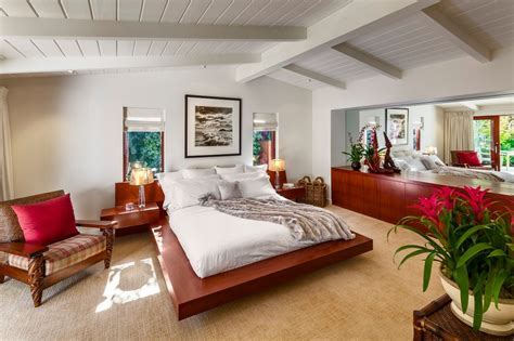 low vaulted ceiling bedroom rustic with exposed beams