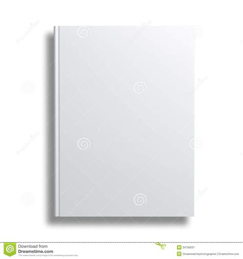 Thin Book Template by Blank Book Cover Over White Background Stock Image Image