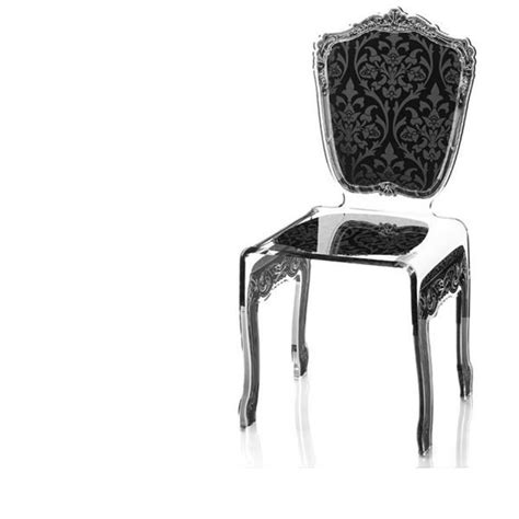 chaise baroque transparente table rabattable cuisine chaise baroque transparente