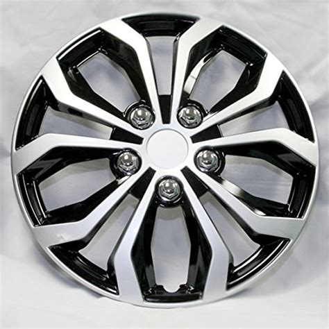 black silver wheel cover kt104mbks new design 15 inch hubcaps spyder performance black and