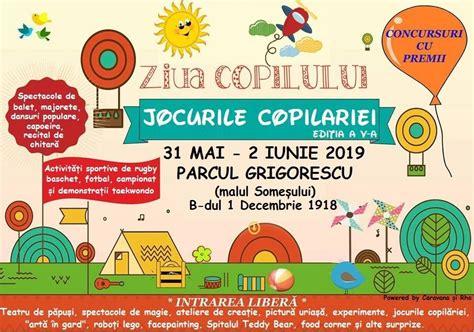 Ziua copilului, numită şi ziua internaţională a copilului, este în multe ţări o sărbătoare pentru copii. Ziua Copilului 2019 - Diverse evenimente - Cluj - Fest.ro