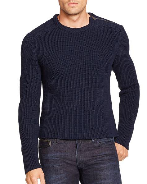 lyst ralph lauren black label ribbed cotton sweater