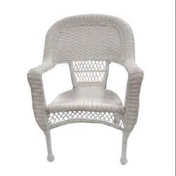 set of 2 white resin wicker patio dining arm chairs
