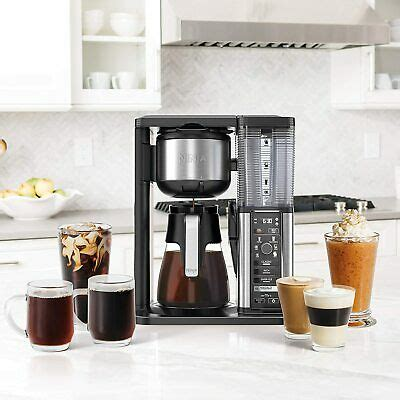 Fills up a single cup to a whole carafe. Ninja Specialty Coffee Maker, with Glass Carafe, Black ...