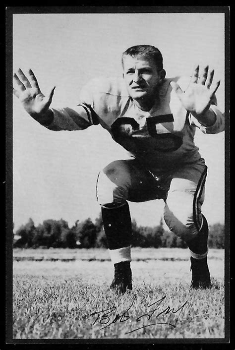 bob fry  rams team issue  vintage football card