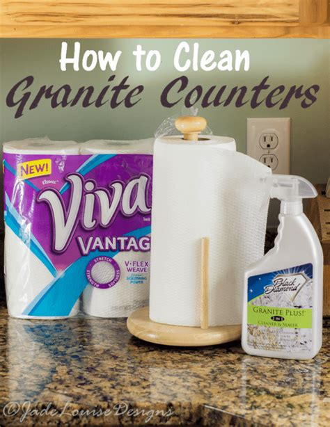 how to clean granite counters to keep them looking gorgeous