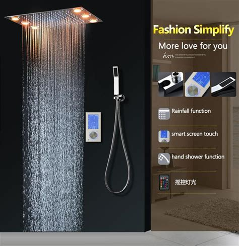 digital thermostatic shower set controller touch control