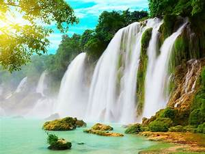 Ba, B, U1ec3, Lake, U0026, Ban, Gioc, Waterfall, North, Hanoi, Desktop