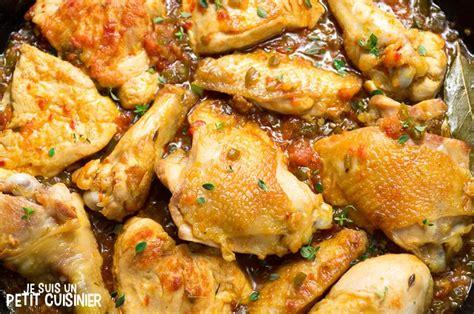 recette de poulet en sauce