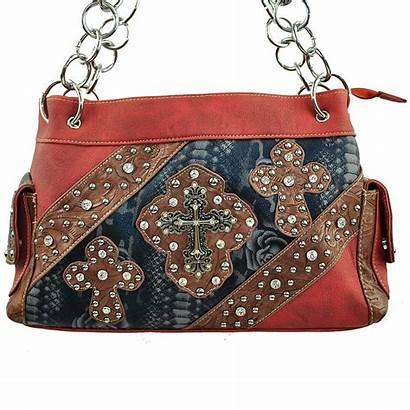 Rhinestone Purse Wholesale Western Studded Handbag Cross