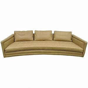 long curved harvey probber button tufted leather mid With mid century modern curved sectional sofa