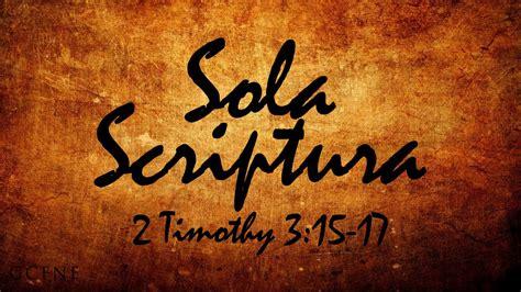 Sola Scriptura? produces bad fruit, namely disunity ...