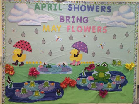 april showers bring may flowers bulletin board ideas april showers brings may flowers decor classroom wall