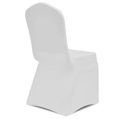 housse chaise extensible pas cher acheter vidaxl housse de chaise extensible 4 pcs blanc pas