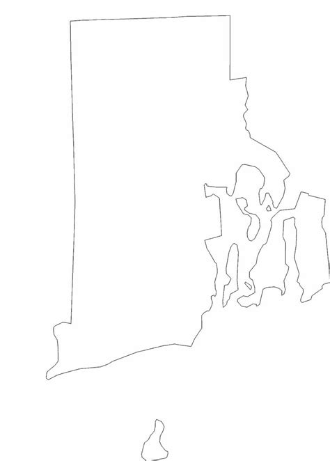 rhode island state outline map