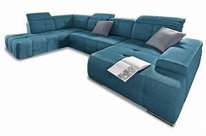 Wohnlandschaft Mit Schlaffunktion Günstig : wohnlandschaft mistral mit schlaffunktion blau sofas zum halben preis ~ Bigdaddyawards.com Haus und Dekorationen
