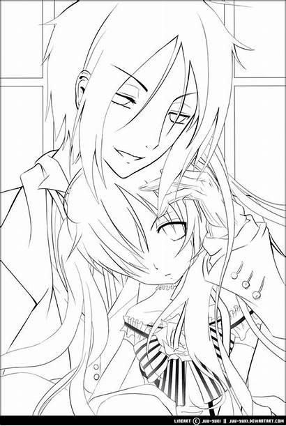 Butler Coloring Pages Anime Manga Kuroshitsuji Drawing