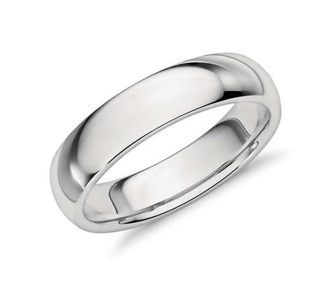 comfort fit ring comfort fit wedding ring in platinum 5mm blue nile