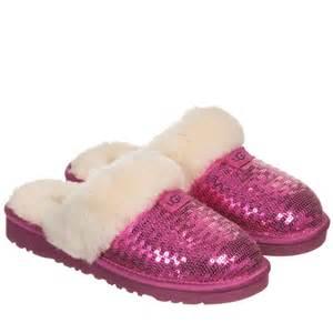 pink ugg slippers sale ugg australia pink sequin sheepskin 39 dazzle 39 slippers childrensalon