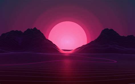 Neon Sunset 4k Wallpapers