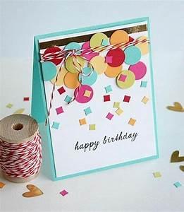 Geburtstagskarten Basteln Ideen : geburtstagskarten selber gestalten ideen in 80 bildern it 39 a girl pinterest ~ Watch28wear.com Haus und Dekorationen