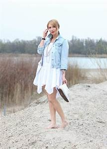 Kleid Mit Jeansjacke : fashionblogger karlsruhe outfit strand weisses kleid jeansjacke lederchucks 4 lavie deboite ~ Frokenaadalensverden.com Haus und Dekorationen