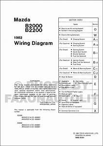 1992 Mazda B220b2600i Pickup Truck Wiring Diagram Original